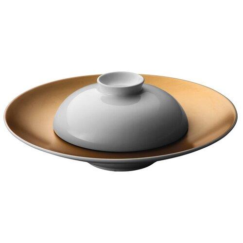 BergHOFF Набор тарелка сервировочная с миской Gem белый/золотой
