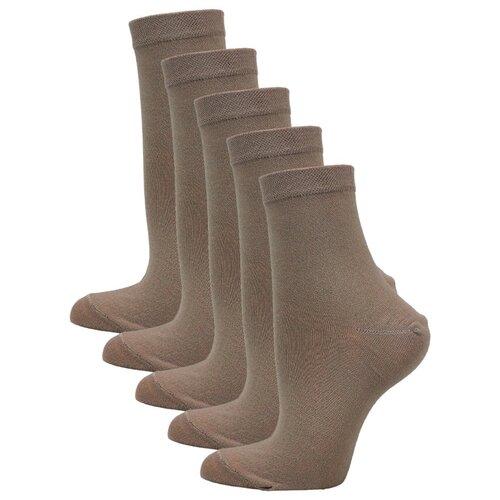 Женские Классические носки Годовой запас, 5 пар, бежевые, 23 (36-38)