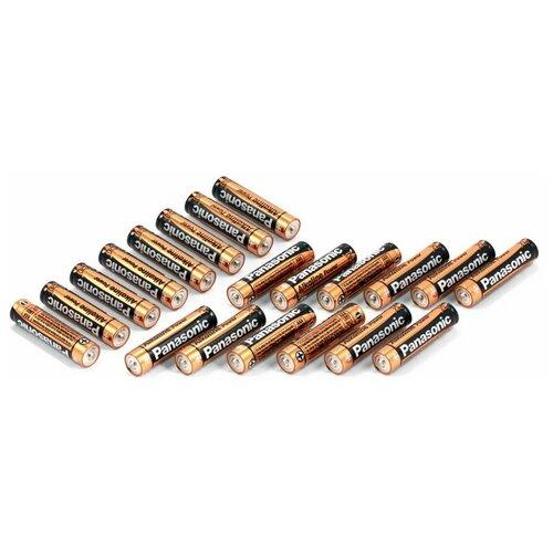 Фото - Батарейки мизинчиковые Panasonic (AAA) Alkaline Power (20 шт) батарейки panasonic c r14 пленка 2 шт