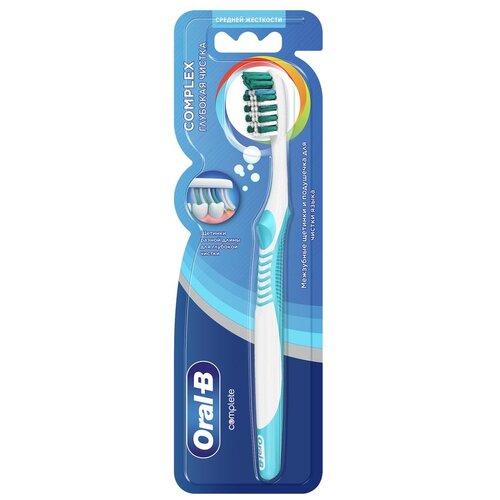 Зубная щетка Oral-B Комплекс Глубокая чистка: средней жесткости, ассортиментный