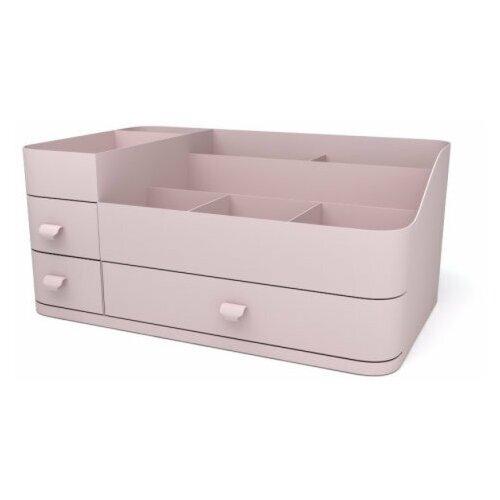 Органайзер для косметики и мелочей розовый /Органайзер для хранения аксессуаров с выдвижными ящиками тахты с ящиками для хранения