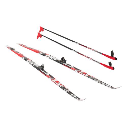 Фото - Беговые лыжи STC NN75 Step Brados LS с креплениями, с палками red 150 см беговые лыжи stc step kid combi черный белый желтый 110 см