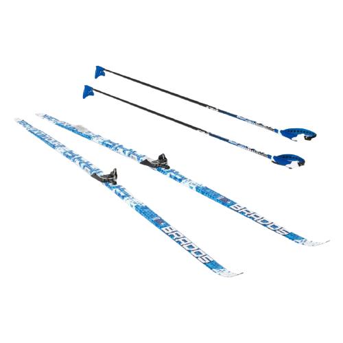 Беговые лыжи STC NN75 Wax XT Tour с креплениями, с палками blue 180 см
