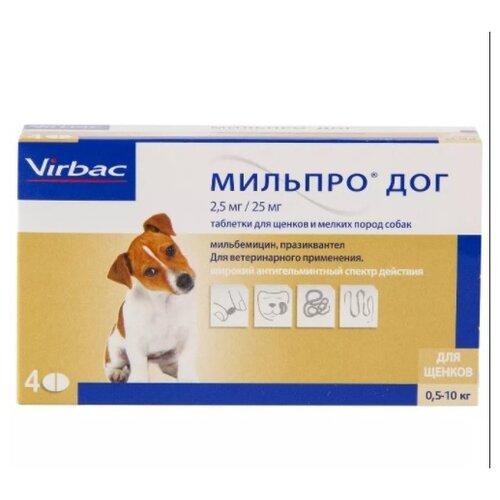 Virbac Мильпро дог для мелких собак и щенков 4