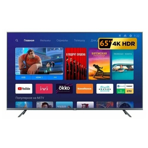 Фото - Телевизор Xiaomi Mi TV 4S 65 Global 65 (2018), черный телевизор xiaomi mi tv 4s 65 t2s 65 2020 серый стальной
