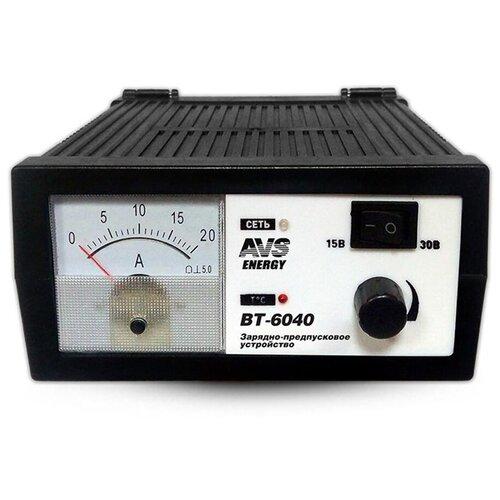Зарядное устройство для автомобильного аккумулятора предпусковое (зарядка для АКБ) AVS BT-6040 (20A) 12/24V A78865S