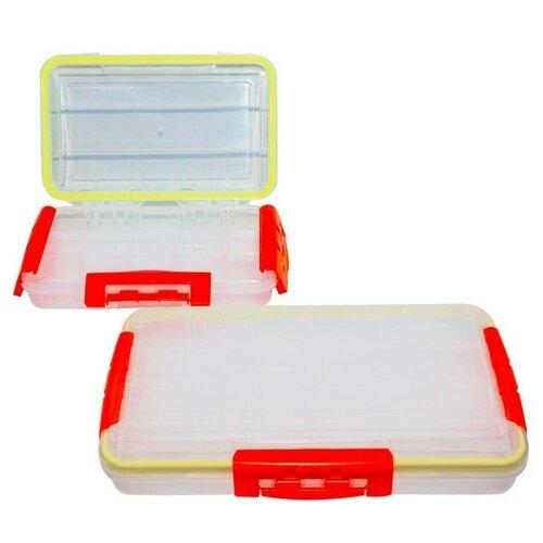 ящик рыболовный пластиковый flambeau 6383tb upgraded classic tray series Ящик рыболовный многосекционный большой Малая 050 (оранж)