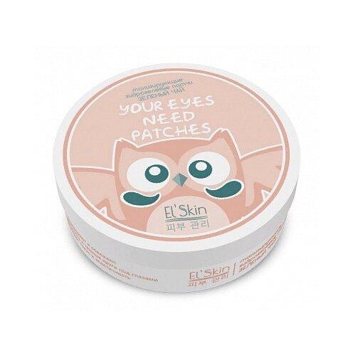 Elskin Тонизирующие гидрогелевые патчи для глаз Green Tea Hydrogel Eye Patch, 30 шт.