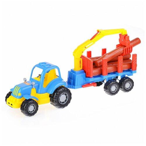 Трактор Полесье с полуприцепом-лесовозом Крепыш Полесье