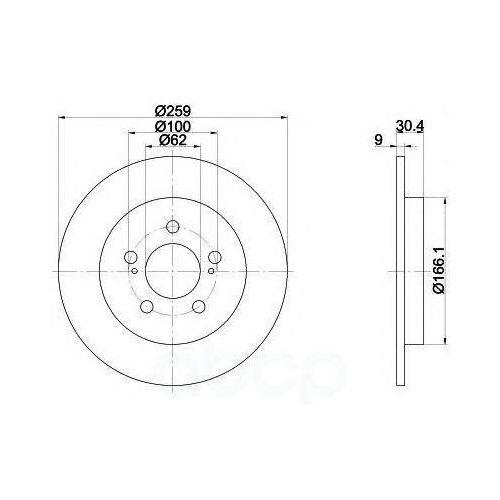 Диск Тормозной Toyota Auris/Corolla 07- Задн. (С Покрытием Pro) Textar арт. 92164103