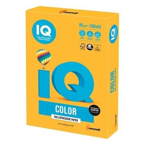 Фото - Бумага IQ Color A4 80 г/м² 500 лист., оранжевый неон NEOOR бумага iq premium a4 80 г м² 500 лист