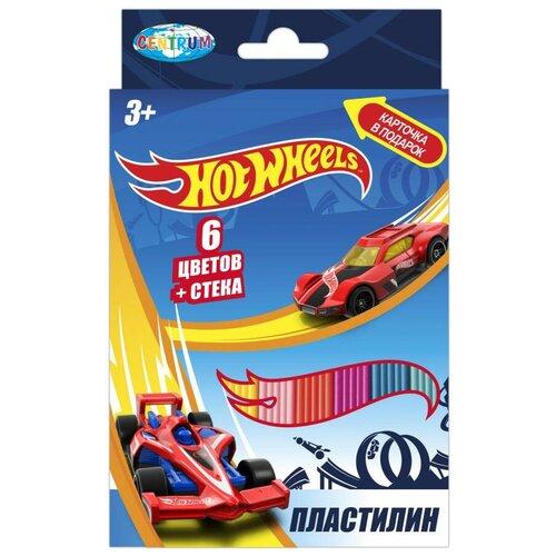 Пластилин CENTRUM Hot Wheels 6 цветов (88618)