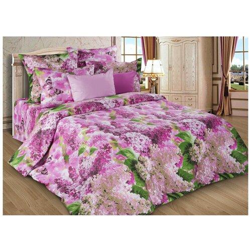 Постельное белье 2-спальное Диана-Текс Сирень розовая 4257(502) бязь, 70 х 70 см