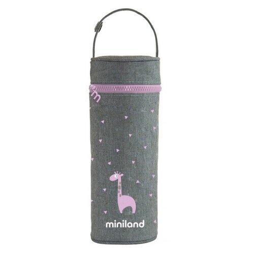 Чехол Miniland для Silky Thermos, 0.35 л серый/розовый