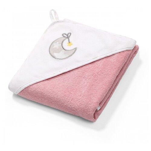 BabyOno Махровое полотенце с капюшоном банное 100х100 см коралловый