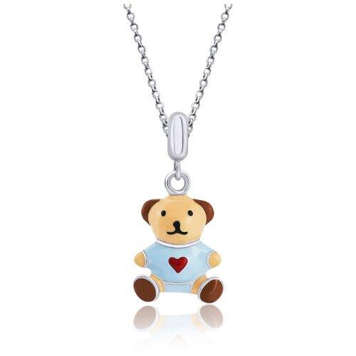 UMa & UMi Детский серебряный кулон подвеска Мишка с сердцем UMI Pets 319556300604