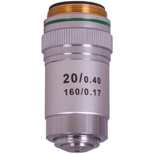 Фото - Объектив LEVENHUK MED 20x 76066 серебристый объектив levenhuk med 20x 76066 серебристый