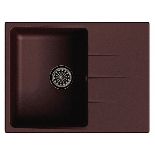 Фото - Врезная кухонная мойка 65 см Ewigstein Gerd 45F шоколад мойка кухонная ewigstein elegant e w90kf шоколад