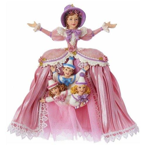Ёлочная игрушка МАТУШКА ДЖИНДЖЕР, полистоун, текстиль, 17 см, Kurts Adler C7652 недорого