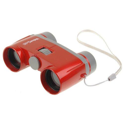 Бинокль Veber Эврика 3х28R красный/серый зрительная труба veber эврика 12x60 серый оранжевый
