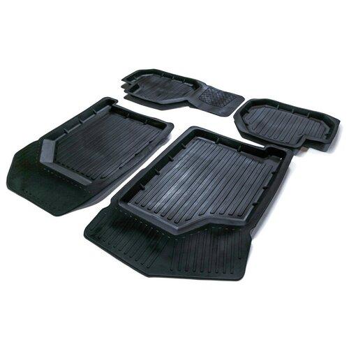 Комплект ковриков салона SRTK LD.15.01004 для LADA (ВАЗ) 2113, LADA (ВАЗ) 2114, LADA (ВАЗ) 2115 4 шт. черный 2