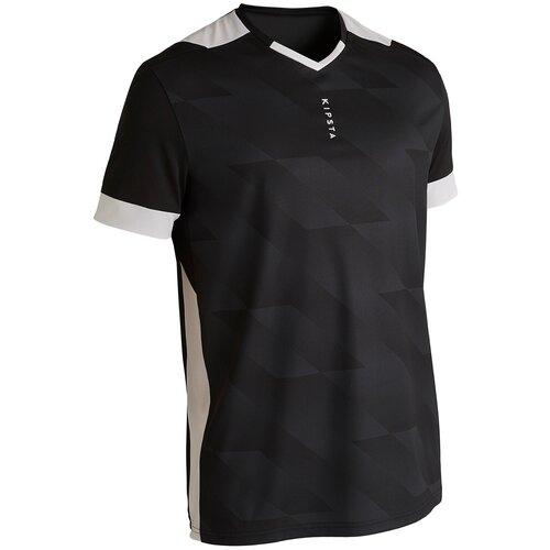 футболка мужская anta цвет черный 85839144 3 размер m 48 Футболка мужская F500 черная, размер: M, цвет: Черный/Белоснежный KIPSTA Х Декатлон