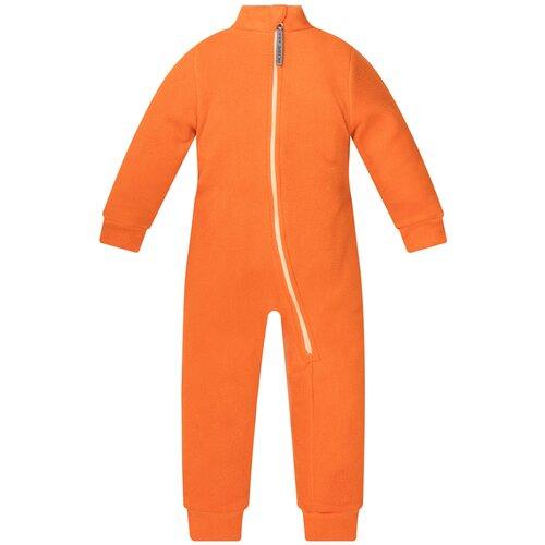 Комбинезон детский, флисовый,286г(ш), Утенок, рост 122 см оранжевый