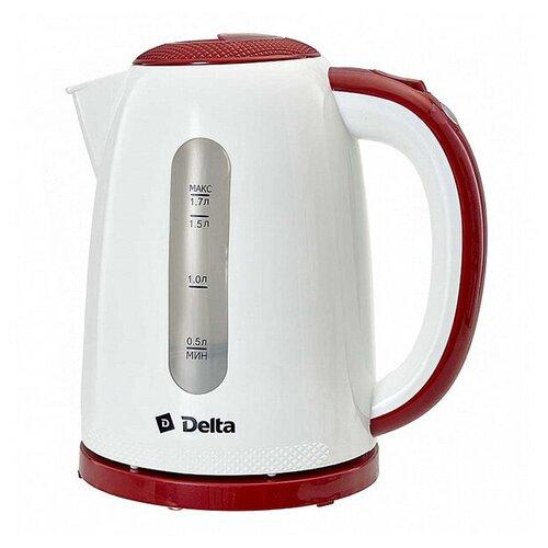 Чайник Delta DL-1106 1.7L White-Bordo