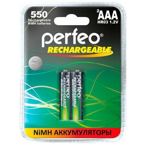 Фото - Perfeo AAA550mAh/2BL Аккумулятор Пластик аккумулятор perfeo aa2500mah 2шт
