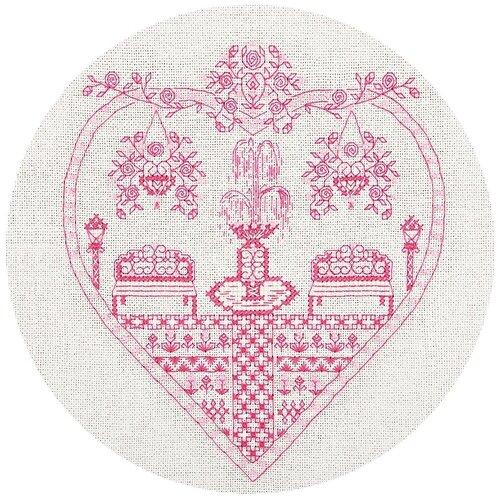 Купить Набор для вышивания крестиком PANNA с бисером, Розовый сад (SO-1768), Наборы для вышивания