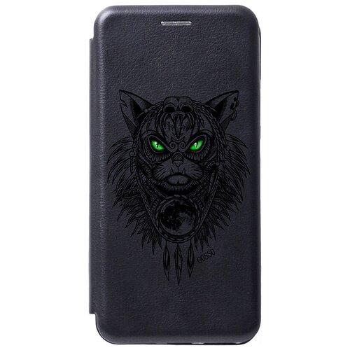 Фото - Чехол-книжка Book Art Jack для Huawei Y6 (2019) / Honor 8A / Honor 8A Pro с принтом Shaman Cat черный чехол для honor 8a 8a pro g case slim premium book черный