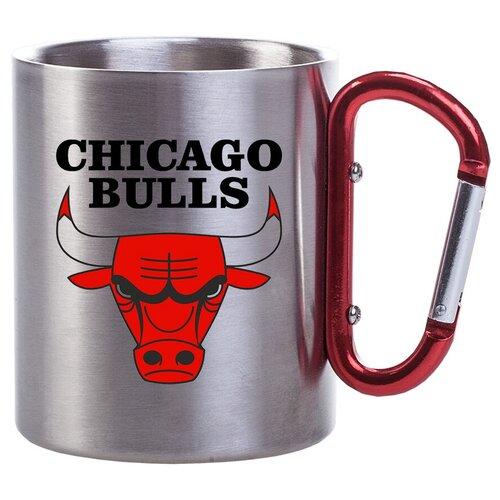 Металлическая кружка с карабином в подарок баскетболисту Chicago bulls