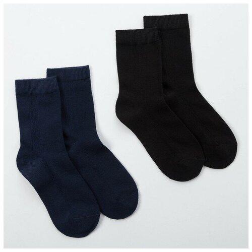 Купить Носки Minaku комплект 2 пары размер 22-24 см (35-38), черный/темно-синий