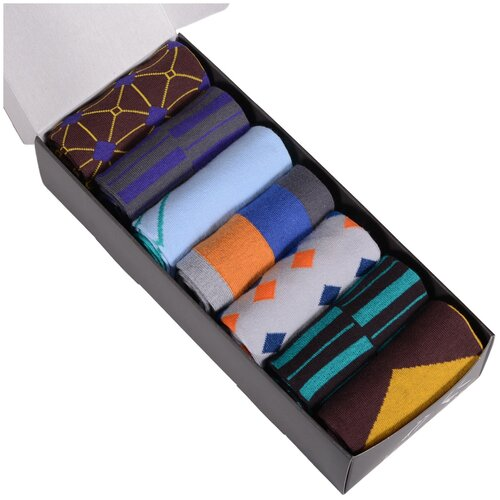 Набор из 7 пар мужских носков (нева-сокс) микс, размер 29