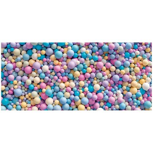 Фотообои Цветные 3D шары/ Красивые уютные обои на стену в интерьер комнаты/ 3Д расширяющие пространство над кроватью или над столом/ На кухню в спальню детскую зал гостиную прихожую/ размер 600х270см/ Флизелиновые