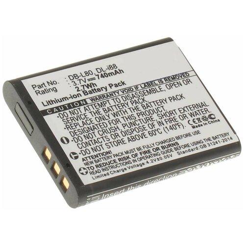 Фото - Аккумулятор iBatt iB-B1-F227 700mAh для Panasonic, Pentax, Sanyo, Toshiba D-Li88, DB-L80, VW-VBX070, аккумулятор ibatt ib b1 f457 3400mah для panasonic vw vbt190 vw vbt380 vw vby100 vw vbt380e k