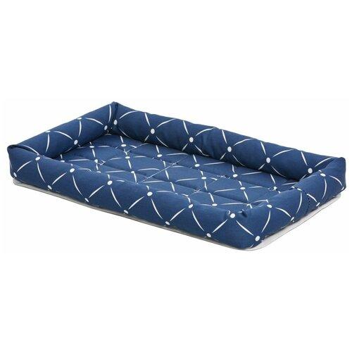 Лежак для собак и кошек Midwest Ashton 76х53х8 см синий недорого