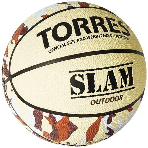 Мяч баскетбольный TORRES Slam, р.5, арт.B02065 баскетбольный мяч torres b30035 р 5 коричневый черный