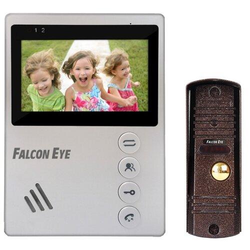 Комплектная дверная станция (домофон) Falcon Eye KIT-Vista коричневый (дверная станция) белый (домофон)