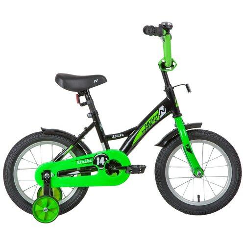 Фото - Детский велосипед Novatrack Strike 14 (2020) черный/зеленый (требует финальной сборки) детский велосипед novatrack twist 20 2020 зеленый требует финальной сборки