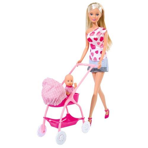 Фото - Кукла Steffi Штеффи, с новорожденным, 29 см (5730861029) набор кукол steffi love штеффи с новорожденным 29 см 5730861