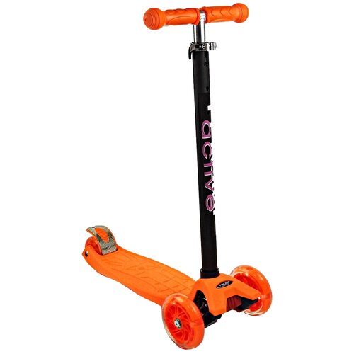 Детский кикборд Triumf Active Maxi Flash SKL-07L, оранжевый детский кикборд triumf active mini up flash skl 06ah оранжевый