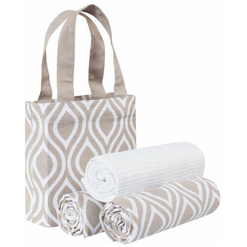Guten Morgen набор полотенец в сумке Верано кухонное 45х70 см коричневый