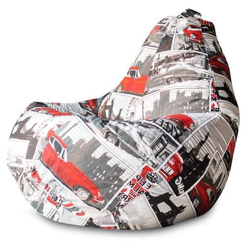 DreamBag Кресло-мешок Ягуар XL (классический наполнитель) серый/ягуар жаккард