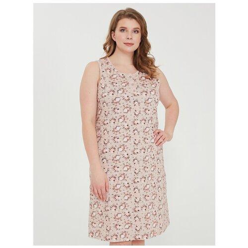 Фото - Сорочка Vistyle, размер 4XL, бежевый халат vistyle размер 4xl черный белый