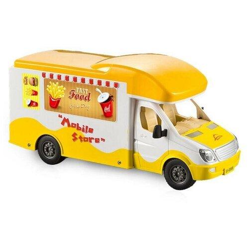 Фото - Фургон Double Eagle E668-003 1:18 33 см желтый автобус double eagle school bus e626 003 1 18 33 см желтый