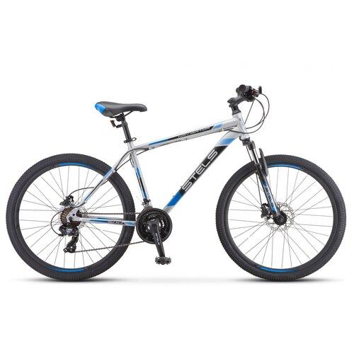 """Горный (MTB) велосипед STELS Navigator 500 D 26 F010 (2020) серый/синий 16"""" (требует финальной сборки)"""