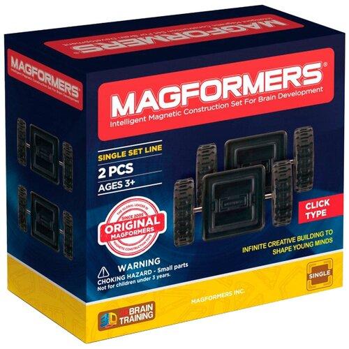 Дополнительные детали Magformers Single 713009 Двойные колеса дополнительные детали magformers 713016 супертреугольники в коробке 12