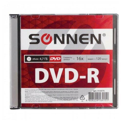 Фото - Диск DVD+R SONNEN 4,7 Gb 16x 1 шт. slim case negima 28