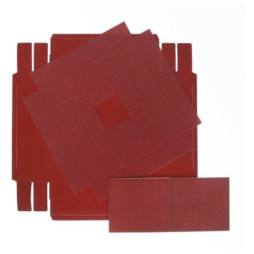 Коробка подарочная Дарите счастье Для самой элегантной 23 х 30 х 23 см красный коробка подарочная дарите счастье с любовью для тебя 23 х 7 5 х 16 см красный белый